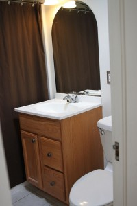 Student Apartment Rentals in Cortland 14-3 Harrington Bathroom